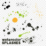watercolor drips. Royalty Free Stock Images