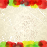 Watercolor drops on paper background Stock Photo
