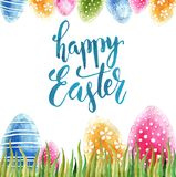 Watercolor Easter holiday cards. stock image