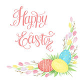 Watercolor Easter card. Stock Images