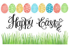 Watercolor Easter card. Royalty Free Stock Photography