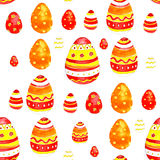 Watercolor easter eggs. Spring bright cheerful ornament Royalty Free Stock Photography