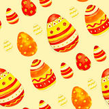 Watercolor easter eggs. Spring bright cheerful ornament Royalty Free Stock Images