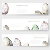 Watercolor Easter holiday cards, tags, banners set. Vector. Illustrated Royalty Free Stock Photo