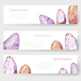 Watercolor Easter holiday cards, tags, banners set. Vector Stock Images