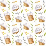 Watercolor easter pattern royalty free illustration