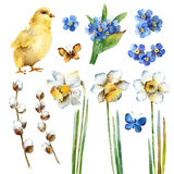 Watercolor Easter set royalty free illustration