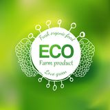 Watercolor eco friendly hand drawing logo Stock Photography