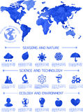 Watercolor ecology infographic background Royalty Free Stock Image