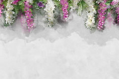Watercolor effect backdrop weddings Royalty Free Stock Images