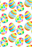 Watercolor egg seamless patten Stock Images