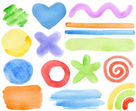 Watercolor elements Royalty Free Stock Photos