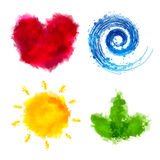 Watercolor Elements Stock Photography