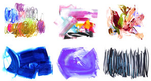 Watercolor elements for designers Royalty Free Stock Image