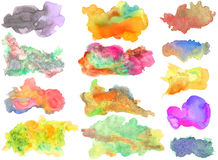 Watercolor elements for designers Stock Photo