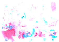 Watercolor elements violet purple Stock Photo