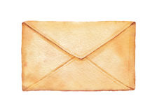 Watercolor envelope Royalty Free Stock Images