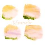 Χρώμα χεριών τέχνης Watercolor στο λευκό 10 eps Στοκ Εικόνες