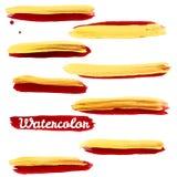Όμορφα φωτεινά λωρίδες watercolor 10 eps Στοκ φωτογραφία με δικαίωμα ελεύθερης χρήσης