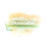 Χρώμα χεριών τέχνης Watercolor στο λευκό 10 eps Στοκ Φωτογραφία