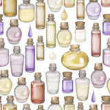 Watercolor essential oil pattern Stock Photo