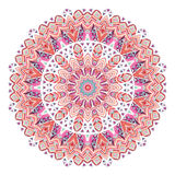 Watercolor ethnic ornate feathers abstract mandala. Royalty Free Stock Image