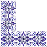 Watercolor ethnic pattern. Ornament Stock Photo