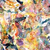 Watercolor ethnic seamless pattern. stock illustration