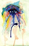 Watercolor Eye Stock Photo
