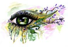 Watercolor Eye Stock Photos