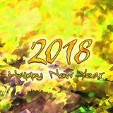 Watercolor/2018 för lyckligt nytt år Royaltyfri Foto