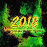 Watercolor/2018 för lyckligt nytt år Royaltyfri Bild