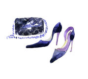 Watercolor fashion shoes Stock Image