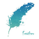 Watercolor feather background Stock Images
