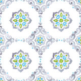 Watercolor filigree seamless pattern Royalty Free Stock Image