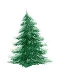 Watercolor fir-tree Stock Image