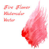 Watercolor fire. Hand drawn watercolor design element Stock Image