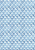 Watercolor fish scale seamless pattern. Illustration Royalty Free Stock Images
