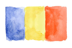 Watercolor  flag. Stock Photography