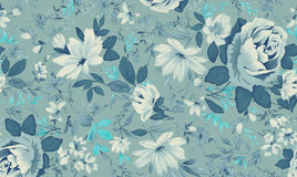Watercolor of floral background Stock Photos