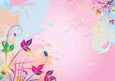 Watercolor floral background Royalty Free Stock Photography
