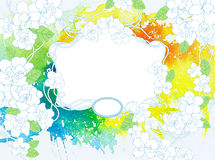 Watercolor floral background Stock Photos