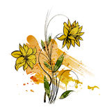 Watercolor floral background Royalty Free Stock Photos