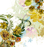 Watercolor floral background Royalty Free Stock Images