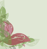 Watercolor floral background Royalty Free Stock Photo