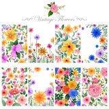 Watercolor floral background for designing purpose Royalty Free Stock Photography