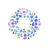 Watercolor floral decorative element Royalty Free Stock Images
