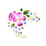 Watercolor floral decorative element Stock Photos