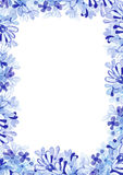 Watercolor floral frame. Royalty Free Stock Photography