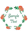 Watercolor floral frame. flowers wreath Royalty Free Stock Images